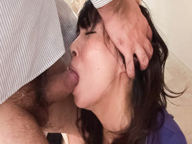 Chihiro Kitagawa's horny husband comes home to fill her sweet little pussy with hard dick meat